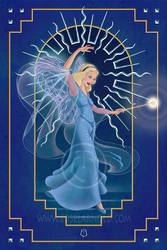 Deco Blue - The Blue Fairy by EdselArnold