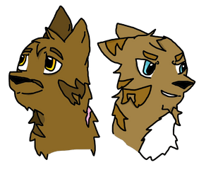 Brambleclaw and Hawfrost (2 year difference) by WeazelWolfieSkyBones