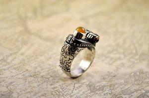 Silver Unisex Handmade Steampunk Victorian Ring by GatoJewel-DerKater