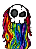 A Skull and the Rainbow by Skull-san