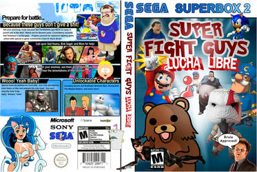Super Fight Guys Lucha Libre by Wallcrawler62