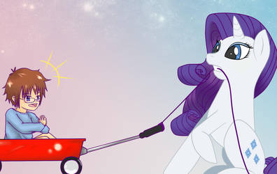 Fun with Rarity by No-Face-girl