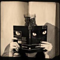 Reading Black Cat by MarinaCoric