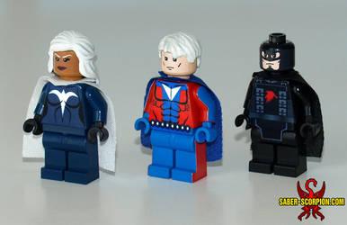 LEGO Optima, UltraMan, Raven by roygbiv666