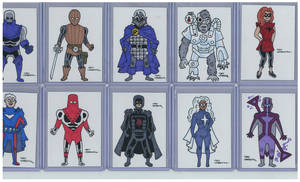 Hembeck Sketch Cards Hereos and Villains by roygbiv666