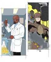 Dr. Quantum and the Tarantula - Erwin/Shalda by roygbiv666