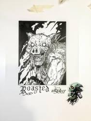 Roasted - Inktober 2018-03 by Madmonkeylove