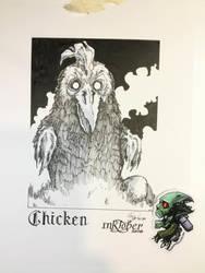 Chicken - Inktober 2018-05 by Madmonkeylove