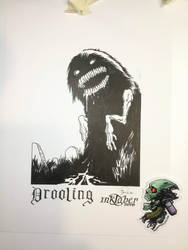 Drooling - Inktober 2018-06 by Madmonkeylove