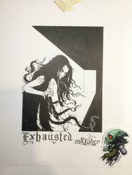 Exhausted - Inktober 2018-07 by Madmonkeylove