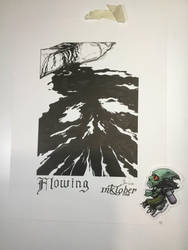 Flowing - Inktober 2018-10 by Madmonkeylove