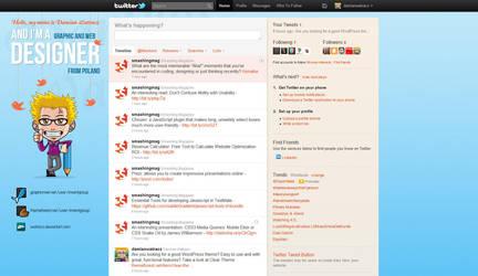 Twitter profile background by watracz