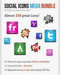 Social Icons Mega Bundle by watracz
