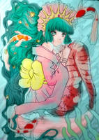 Mizu, the koi-fish mermaid by Blumye