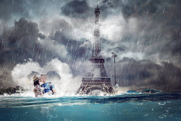Paris under water by Funialstwo