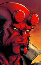 Hellboy color by JPR04