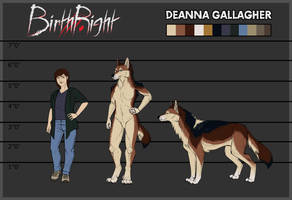 BirthRight- Deanna Reference Sheet by IrishWolven