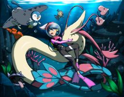 Dawn's Underwater Adventure by Severflame