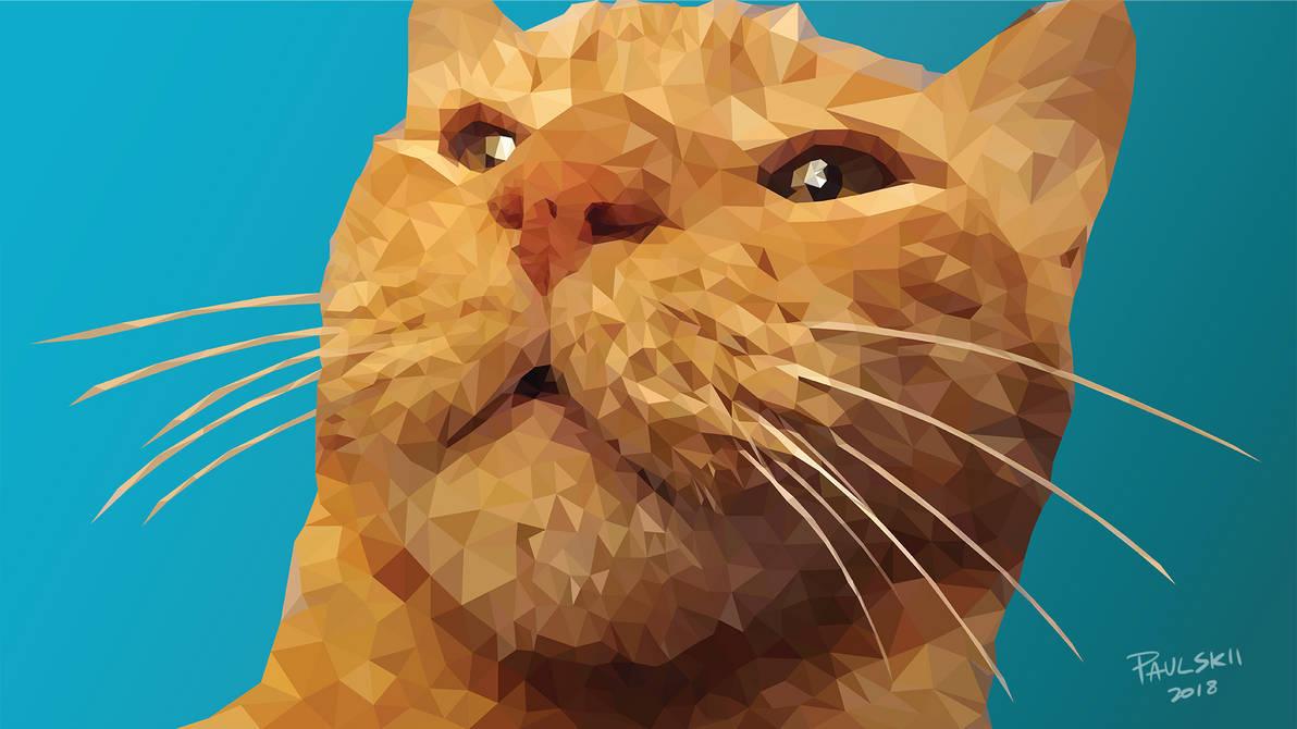 Fudge the Cat Wallpaper by Paulskii