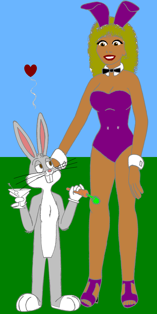 Bunny And Bugs by oneuglybunny
