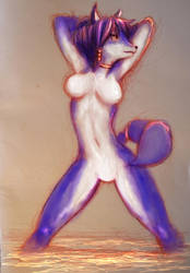 for the furries Krystal from Star Fox by keznkaiser