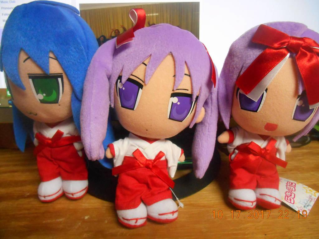 3 Lucky Star Miko Plushies By Hazakimoonphase On Deviantart