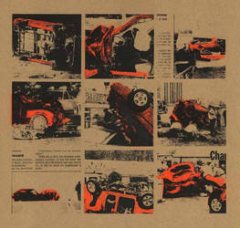 9 orange car crashes by the-Px-corporation