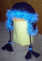Hat - Unruly Blue on Black by turtlegirlman