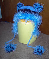 Hat - Bright Blue TeddyHat by turtlegirlman