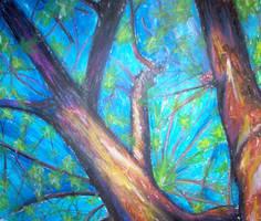 Apple Tree Sky by turtlegirlman