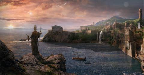 Atlantis. The last sunrise by batkya