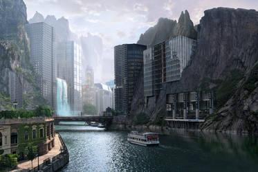 Strange city by batkya
