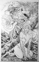 Scarecrow and Poison Ivy by jjakec