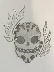 Patterned skull by huntersmoon177