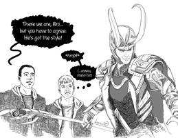 Bartleby, Loki and Loki by L0u1sa