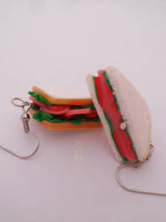 Club Turkey and Bacon Earrings :) by K3ShaneDawson