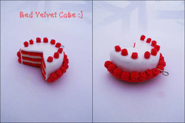 Red Velvet Cake Pendant by K3ShaneDawson