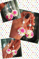 Flower Ball Earrings by K3ShaneDawson