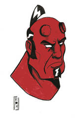 Hellboy warm up by IronFistGoon