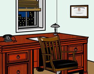 detective office by IronFistGoon