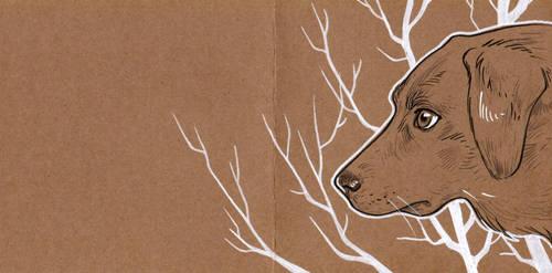 Dog postcard by 3lda