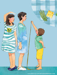 Growing up - KOSMOS - illustr. for girls magazine by Moryah