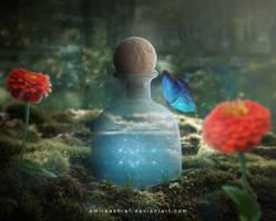 Magical Bottle by AmiraAshraf