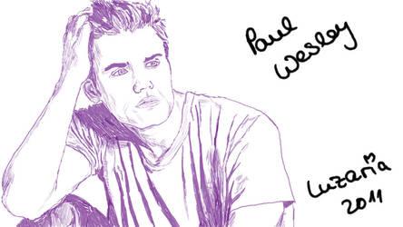 Paul Wesley purpel xD by Luzaria