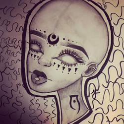 Blinded-Creepy Portrait #1 by kenzart19