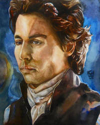 Johnny Depp as Ichabod Crane by SufiaEasel