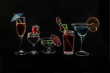Cocktails Outlined by glittercookie