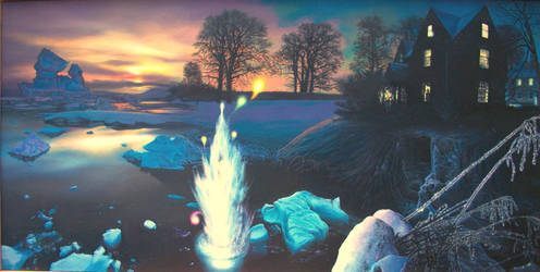 Winter Night Will o'the Wisps by Tolkyes