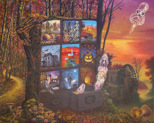 Autumn Shadow Box by Tolkyes