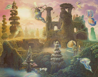 The Ruins in Springtime by Tolkyes